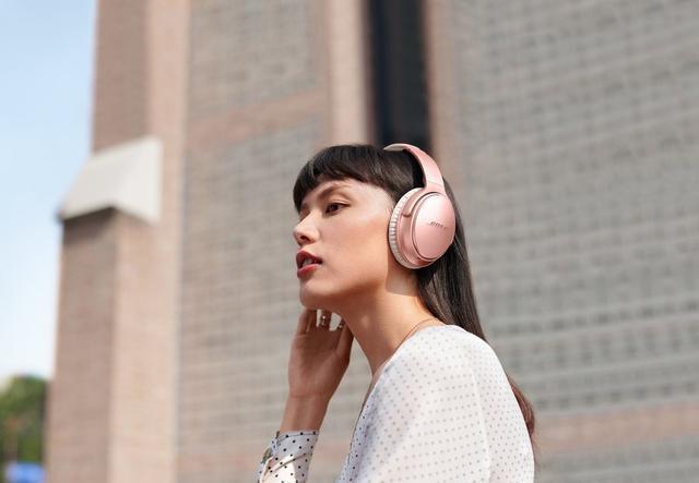 bose wireless headphones rose gold