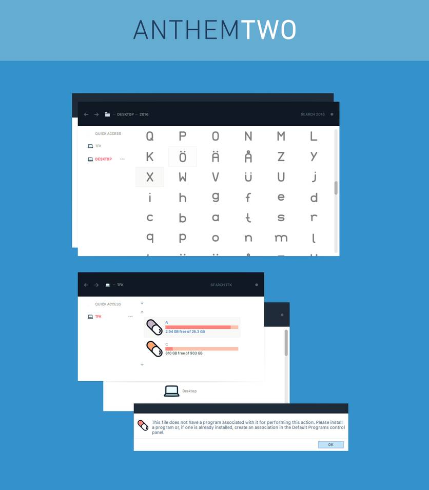 Anthom theme two for Windows 10