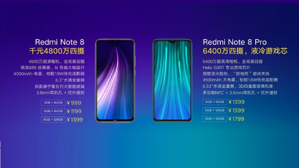 Redmi note 8 price chart