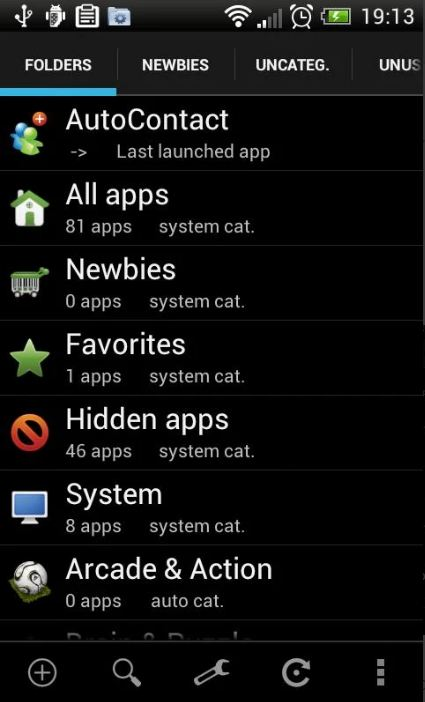 App organizer for Android