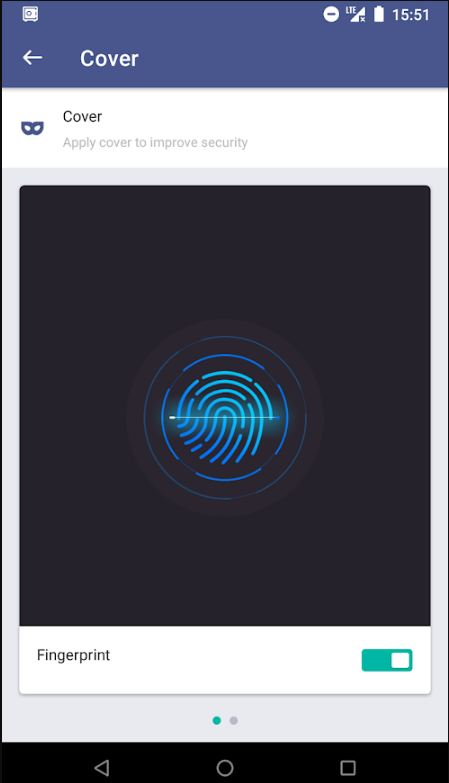 Fingerprint security cover