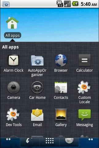 home screen organizer for Android