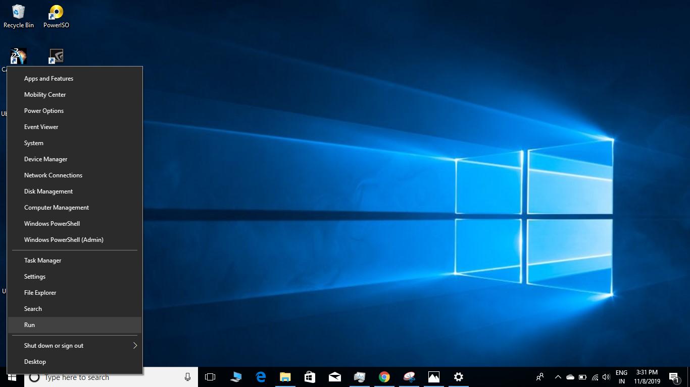 right-click windows icon