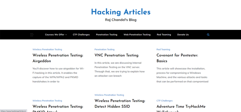 Hacking Articles
